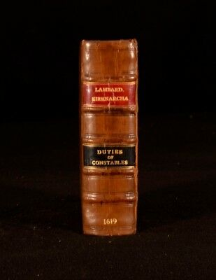 1619 William Lambard Eirenarcha Duties of Constables Duties of Ministers History