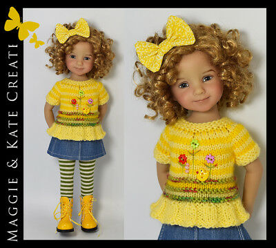 "Spring outfit for Little Darlings Dianna Effner 13"" by Maggie & Kate Create"