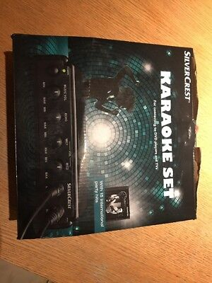 Silvercrest Karaoke Set DVD Tv Player Connect With Cd And 2 Microphones
