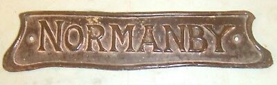 Normanby (North Yorkshire) - Antique Copper Plate Possibly Former House Name.