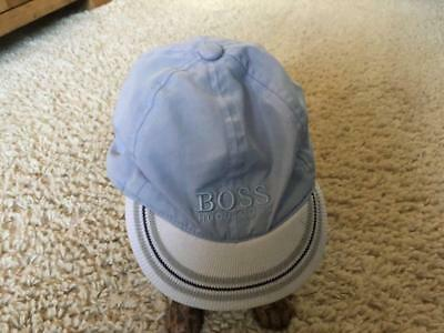 HUGO BOSS Baby Boy Soft Peak Cap Light Blue/White Approx up to 12 Months