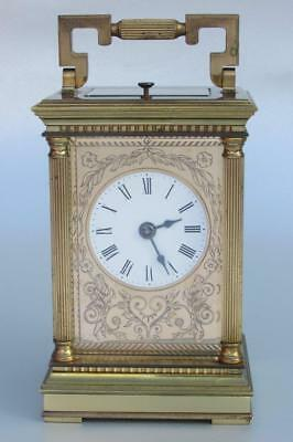 REPEATER ENGLISH CARRIAGE CLOCK by FRODSHAM strke to a bell VENITIENNE CASE