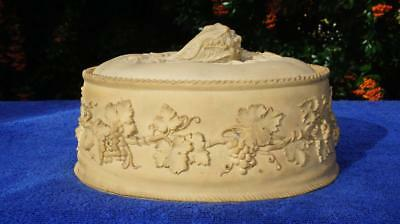Large Antique Wedgwood Game Pie Dish Cauliflower Lid Grapevine & Branches Base