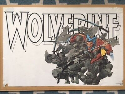 Vintage Wolverine 1987 Poster By Frank Miller, Marvel Press / Entertainment