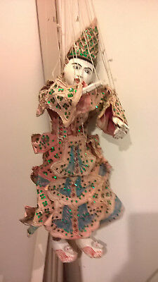 antique indonesian thai marrionete puppet