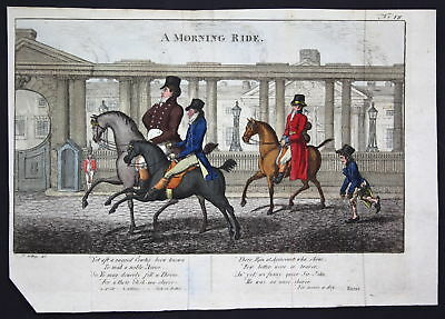 1804 Gillray George VI horse ride Karikatur caricature Kupferstich engraving