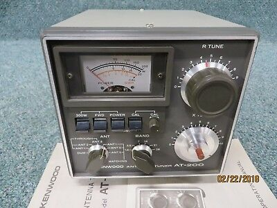 """Kenwood AT-200 Antenna Tuner """"Matches TS-520S & Others"""" Excellent Condition"""