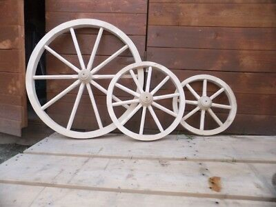 Cart Wagon Wheel 30cm 40cm 50cm 60cm 70cm 80cm  Solid Wood Best Quality Detai...