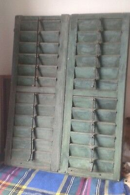 Vintage Wooden Shutters Window Doors French  Reclaimed  Salvage