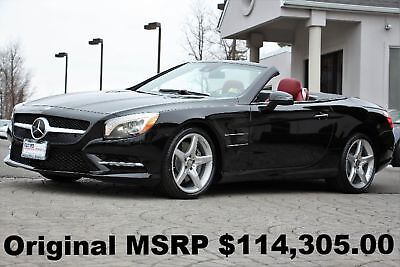 "2015 Mercedes-Benz SL-Class SL550 Roadster 2015 Driver Assistance PKG 19"" AMG Wheels Black on Bengal Red Auto Panorama Roof"