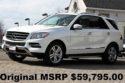 2015 Mercedes-Benz M-Class ML350 4Matic 2015 Lane Tracking PKG Keyless GO Running Boards P I PKG White Auto AWD Perfect