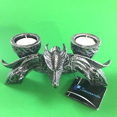 Dragon Candle Holder DWK 2009 World of Wonders Fantasy Polyresin Arch Holds 2