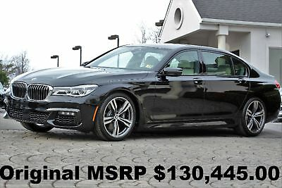 "2016 BMW 7-Series 750i xDrive M Sport PKG 2016 $31K in OPTIONS Rear Executive Lounge Seating 20"" Wheels Black Sapphire AWD"