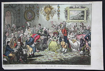 1804 Gillray St. Anne's Hill London Karikatur caricature Kupferstich engraving