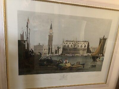 Henry Le Keux The City Of Venice Engraving Antique picture frame