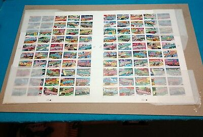US Postal Stamps 2001 (2002) GREETINGS FROM AMERICA 50 34¢ STAMP SHEET