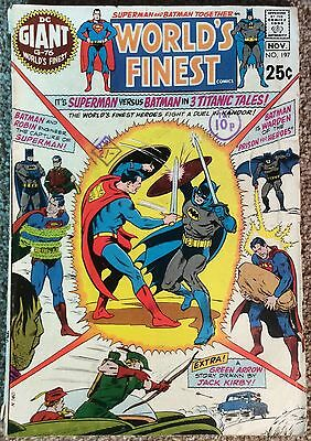Worlds Finest #197 1970 Superman & Batman. 45 Yrs Old VG Condition B & Boarded