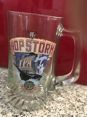 BJ's Hop Storm India Pale Ale Collectible Glass Beer Stein Mug NEW