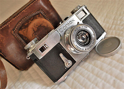 Zeiss Ikon CONTAX II 35mm rangefinder camera. Tessar f3.5/50mm collapsible lens!