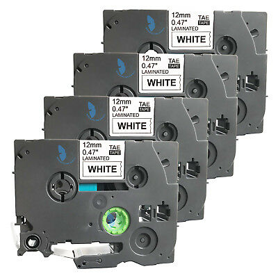 4 New Label Tape for Brother PT 1880W 1890W 1880SC 1830VP 1950 2030 2310 P750WVP