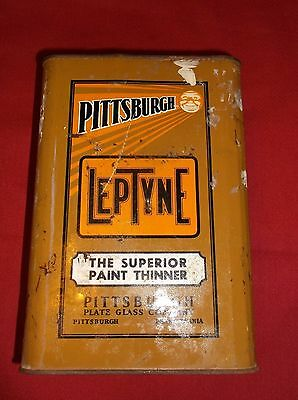 VINTAGE PITTSBURGH LEPTYNE SUPERIOR PAINT THINNER 1 gal.can
