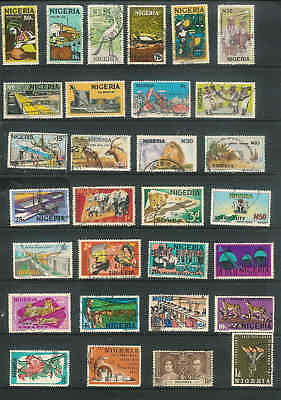 British Commonwealth Nigeria Nice lot of over 30 stamps LOT D47