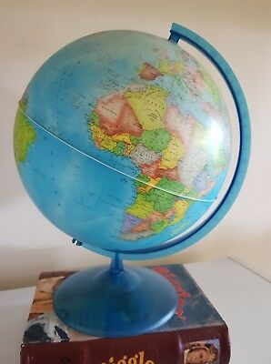 Large Vintage world globe Rico made in Italy EC