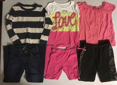 Lot of 11 Girl Clothes Levi's Justice GapKids 6-6x & 6-7 & 7 & 7-8