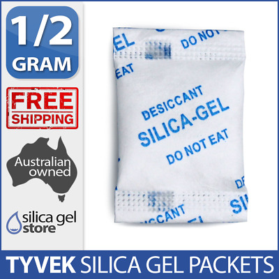 2400 x 0.5gm Reusable Silica Gel Packets Moisture Absorber Desiccant Sachet