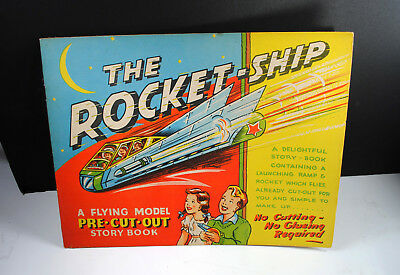The Rocket Ship A Flying Model Pre-Cut Out Story Book 1950s
