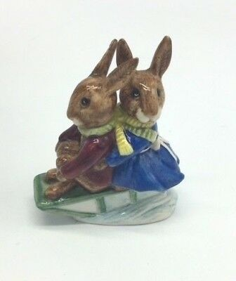 Royal Doulton Bunnykins  Sleigh Ride DB 4 COPR 1972
