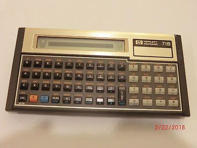 VINTAGE HP-71B Programmable Calculator for Parts/Repair