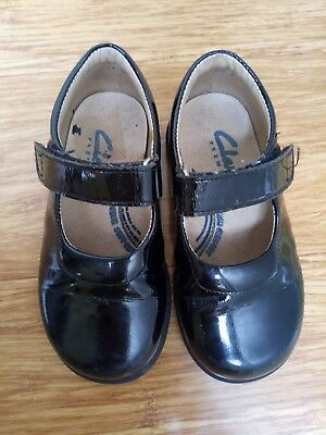 Clarks Girls leather black shoes - size 23