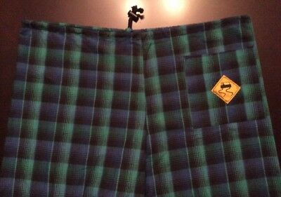 Vintage SKIDZ Skateboarding rare pants - one size 90s Plaid