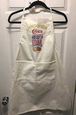 LONGABERGER Apron Crisco Cookie Celebration Fabric Cotton New and Genuine