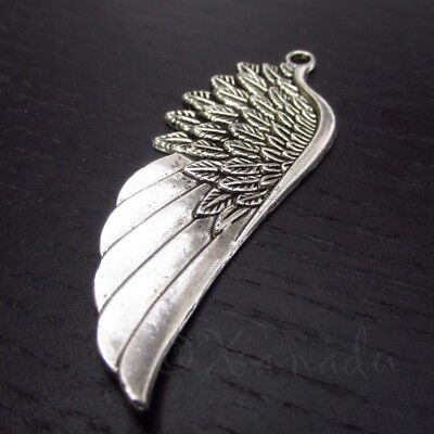 50 Or 100PCs Angel Wing 31mm Antiqued Silver Plated Connector Charms C5833-20