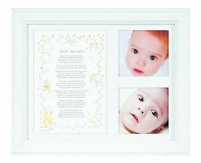 The Grandparent Gift Co. Photo Frame, Twin Hearts New