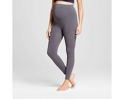 NEW Isabel Maternity size S/M gray seamless belly leggings small medium pants