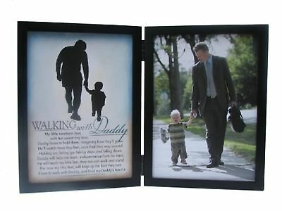 The Grandparent Gift Co. Silhouettes Frame, Walking with Daddy New