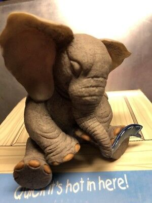 "Tuskers Adventures Of Henry 90762 ""Dozzzing"" Elephant Figurine 1999"