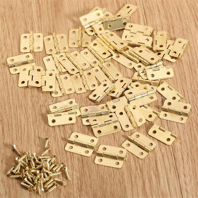 10~200pcs Gold Mini Hinge Jewellery/Cigar/Trinket Box Tiny / Cabinet Hinge