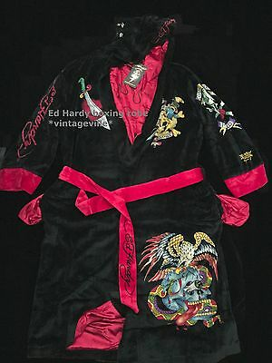Ed Hardy boxing bath robe reversible NWT authentic item one size