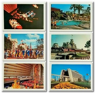 Vintage 1970's WALT DISNEY WORLD (Orlando, FL) Unposted POSTCARD, 3 1/2 x 5 1/2