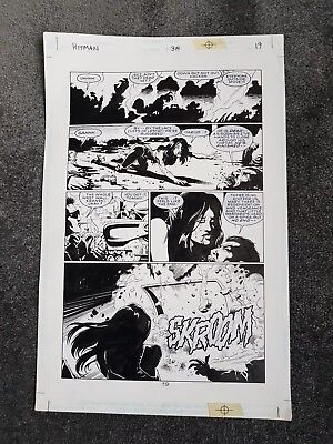DC Hitman Issue #38 page 19 original page art hand drawn by John McRea