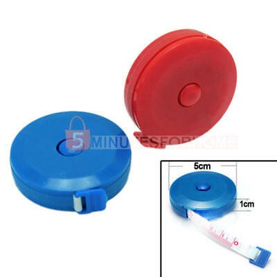 """Retractable Measuring Ruler Sewing Cloth Tape 60"""" 1.5M Metric Small Plastic"""