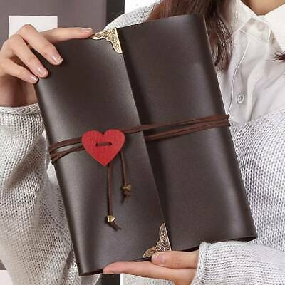 120pcs Photo Album Leather Scrapbook Travel Holiday Gift Vintage Albums