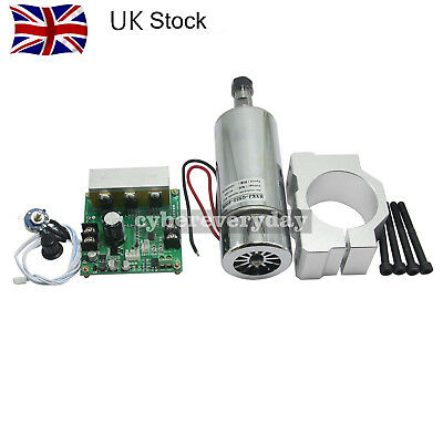 CNC ROUTER MILLING Air Cooled 0.4KW Spindle Motor &  Speed Controller+Mount UK