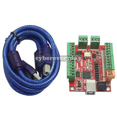 CNC USB Card MACH3 100Khz Breakout Board 4-Axis Driver Motion Controller UK