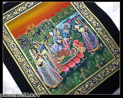 Coated With Gold - Indians Style - Silk - 26x21 3CM - Wall Art / Paintings