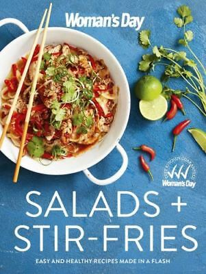 Salads + Stir Fries By Woman's Day Paperback Cookbook Free Shipping NEW Womans
